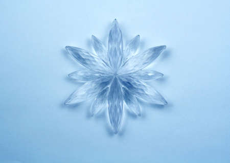 Christmas decoration - Crystal snowflake Stock Photo - 642045