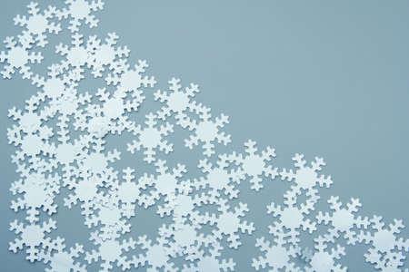 chads: Christmas decoration. Chads - white snowflakes Stock Photo