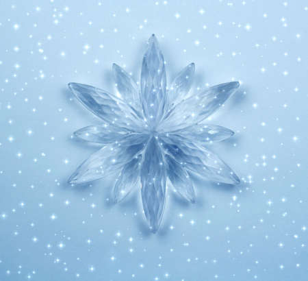 Christmas decoration - Crystal snowflake Stock Photo - 660519