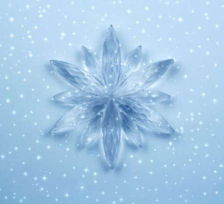 Christmas decoration - Crystal snowflake Stock Photo - 660519