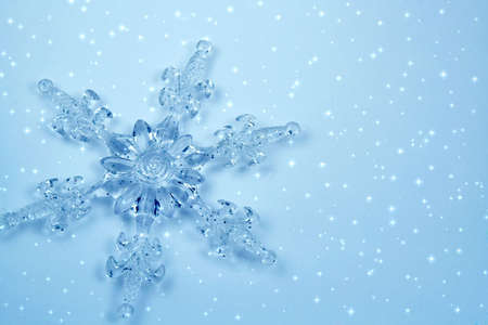 Crystal snowflake . Background for card Stock Photo
