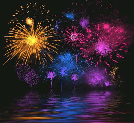 detonation: Celebratory firework. Stock Photo