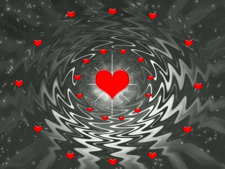 Abstraction black fantasy  for holidays -Valentines day and wedding Stock Photo - 699117