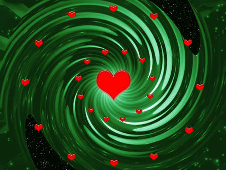 Green fantasy for design artwork for holidays -Valentines day and wedding Stock Photo - 705075
