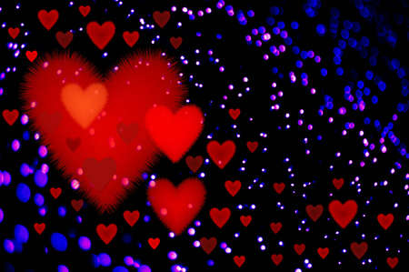 Abstraction background for card on Valentines day Stock Photo - 705066