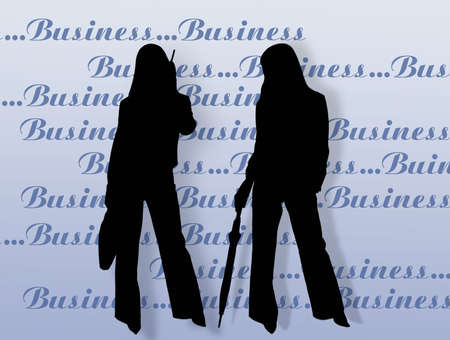 endorsement: Business womens and endorsement. Stock Photo