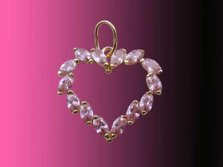 Valentines jewelry heart photo