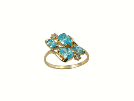 Golden sapphire ring photo