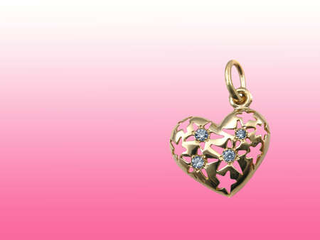 Valentines card with jewelry heart photo