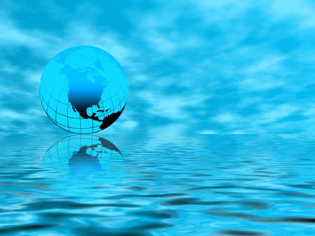 Blue world Stock Photo - 732500