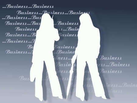 endorsement: Business womens and endorsement. Monocromatic picture