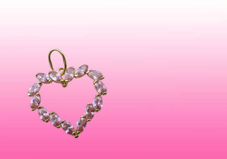 Valentines jewelry gifts on pink background photo