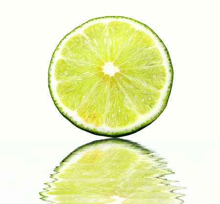 Morsels of lime reflection in water photo
