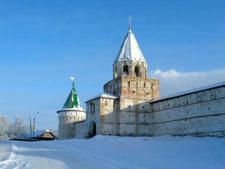 eligion: Winter. Ancient monastery in Russia