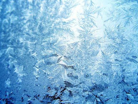 window opening: Icy pattern on window Stock Photo