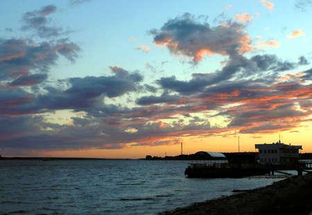 Beautiful evening . Landscape photo