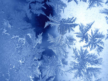 Frosty natural pattern on winter window Stock Photo - 821720