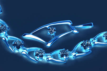 jewelle: Jewelry  in blue neon light