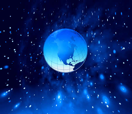 horison:  Planet Earth and stars  Stock Photo