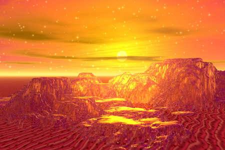Golden mountains photo