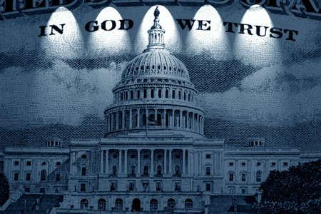 edifice: American dollar in light
