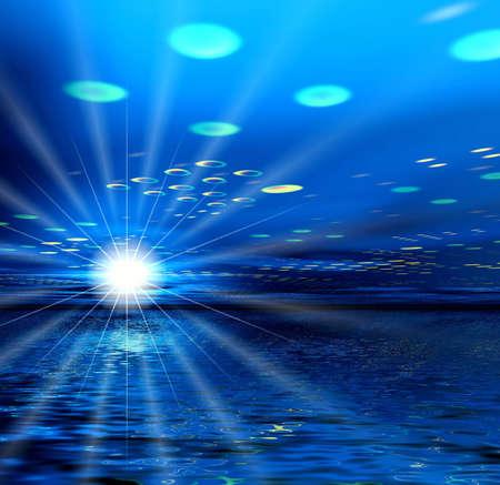 Night. UFO and star photo