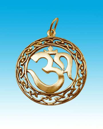 amulet: Amulet on blue background