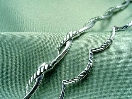 Bracelets on green textille Stock Photo - 864673