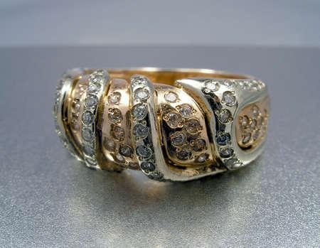 Golden diamond ring Stock Photo - 864725