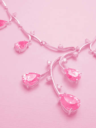 Pink background with necklace Stock Photo - 864726