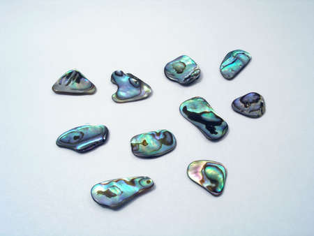 jewelle: Mother-of-pearl. multiplicity Stock Photo