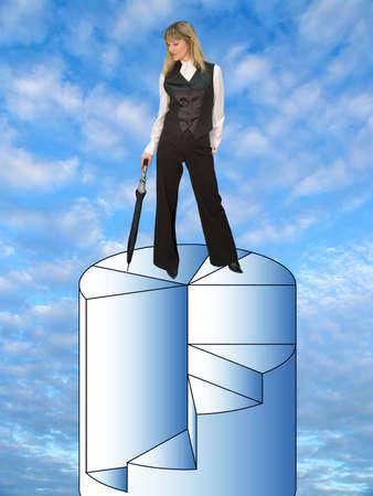 Successful business woman photo