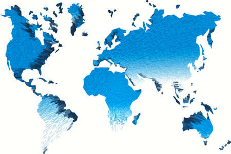 peace plan: Abstraction map of world.