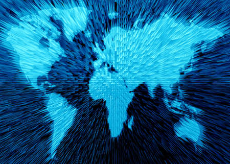 Abstraction map of world. Stock Photo - 873052