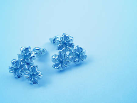 Blue jewelry background for card Stock Photo - 899019