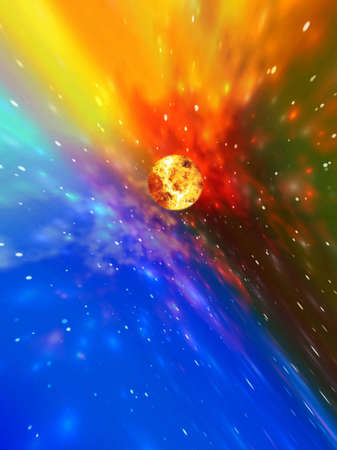 cor: Space abstract Stock Photo