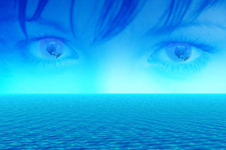 Blue eyes of Earth Stock Photo - 990039