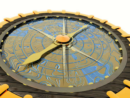 geographic: Geographic compass Stock Photo