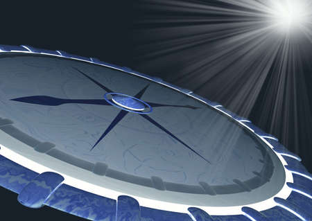 Compass 3d and rays Stock Photo - 1304116