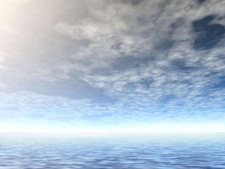 3D cloudy landscape Stock Photo - 1341886