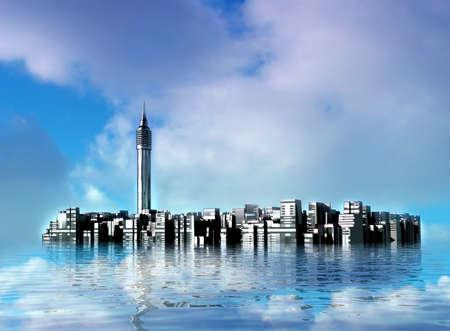 edifice: Underwater fantastical City.