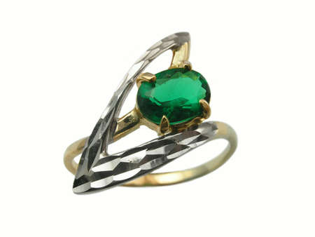 jewelle: ring with emerald Stock Photo