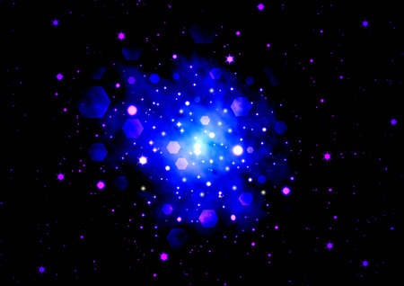 Abstraction starry background photo