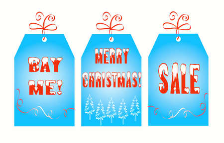 Christmas labels isolated on white. XXXL size photo