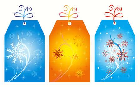 xxxl: Christmas labels isolated on white. XXXL size Stock Photo