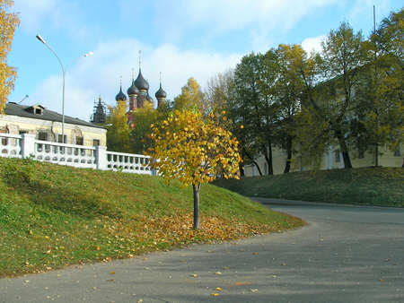 Autumn season. Landscape of Yaroslavl city