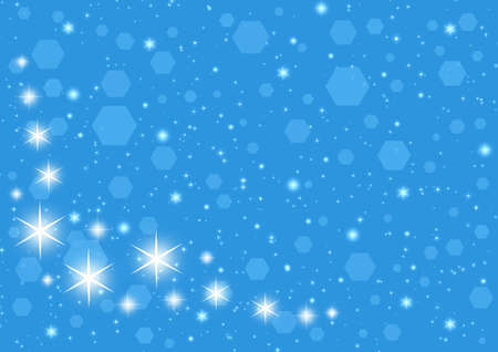 sillhouette: Abstraction Christmas starry background for design artworks.  Stock Photo