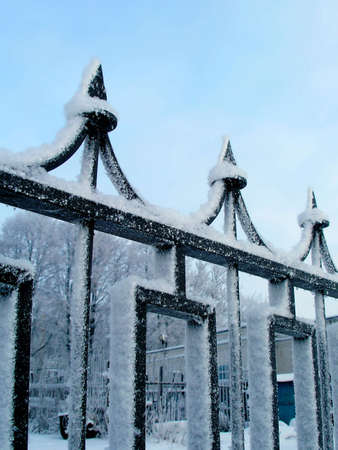 malleable: Winter fence . Cast-iron malleable  Elements
