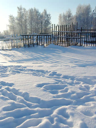 Winter nature. Russian country photo