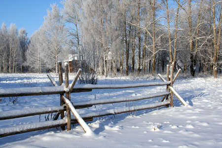 Winter nature. Russian country Stock Photo - 2073393